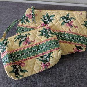 Vera Bradley Vintage Hope quilted cosmetics bags 2